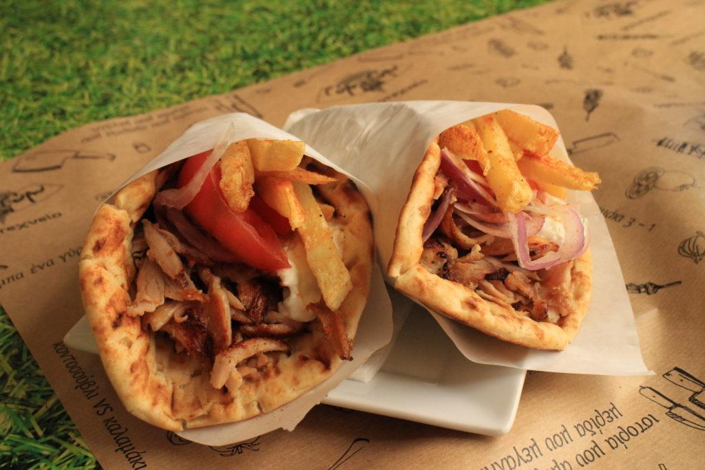 希臘美食:希臘捲餅gyros