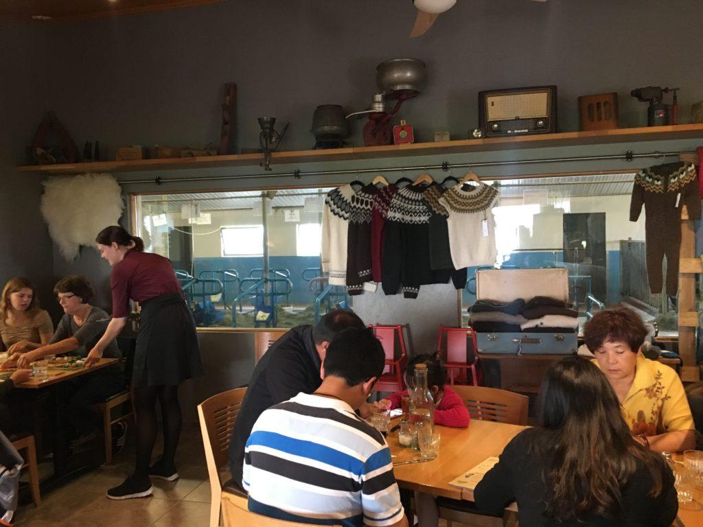 Vogafjós Cowshed Cafe跟牛一起吃午餐