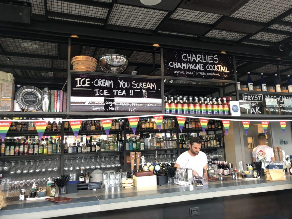 瑞典斯德哥爾摩食記:Tak terrace bar吧檯照片
