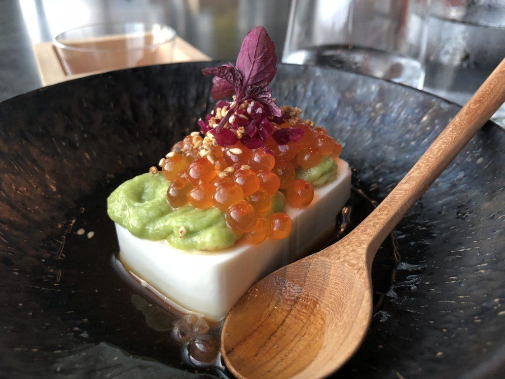 瑞典斯德哥爾摩食記:Tak terrace raw bar的菜色之一豆腐