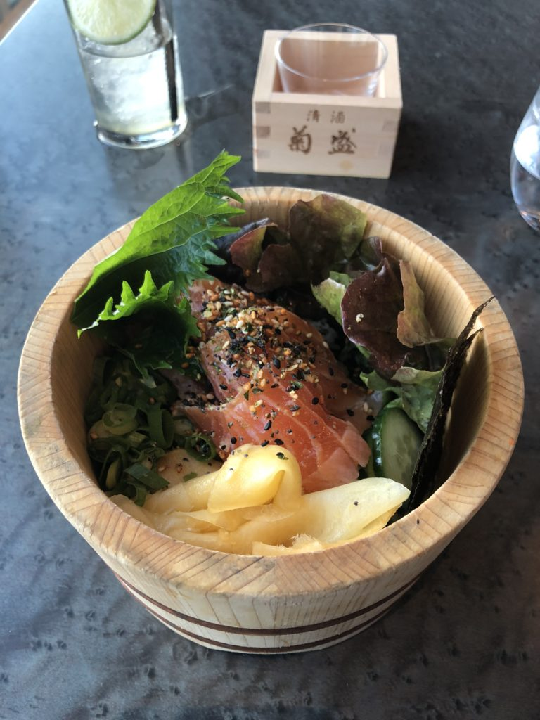 瑞典斯德哥爾摩食記:Tak terrace raw bar的菜色之一小小散壽司