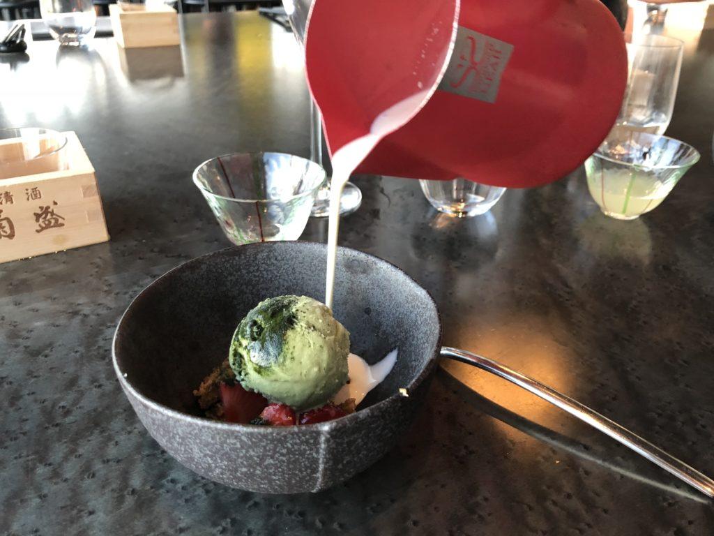 瑞典斯德哥爾摩食記:Tak terrace raw bar的甜點抹茶冰淇淋